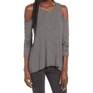 ❤️Nords Lush striped cold shoulder long sleeve S